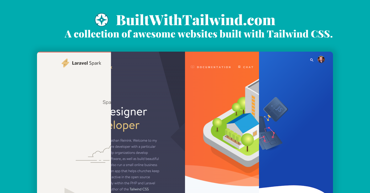 Collection of awesome websites made with Tailwind CSS - Built with